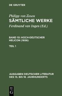 Cover Deutscher Helikon. Erster Teil