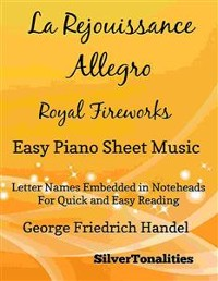Cover La Rejouissance Allegro Royal Fireworks Easy Piano Sheet Music
