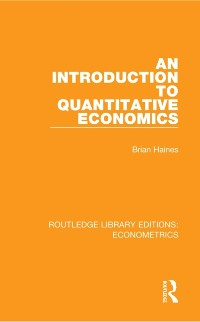 Cover Introduction to Quantitative Economics