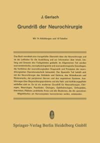 Cover Grundriss der Neurochirurgie