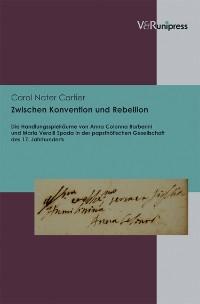 Cover Zwischen Konvention und Rebellion