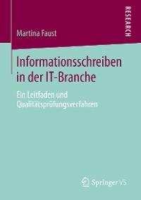Cover Informationsschreiben in der IT-Branche