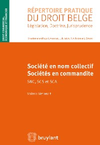 Cover Sociétés en nom collectif et sociétés en commandite