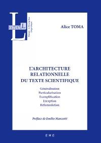 Cover L'architecture relationnelle du texte scientifique