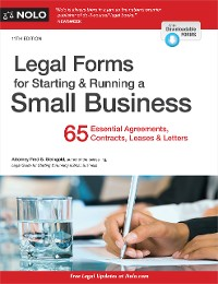 Cover Legal Forms for Starting & Running a Small Business