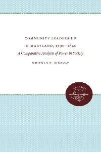Cover Community Leadership in Maryland, 1790-1840
