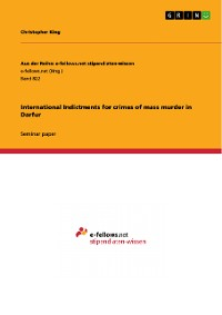 Cover International Indictments for crimes of mass murder in Darfur