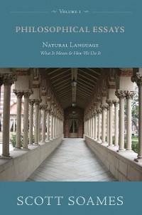 Cover Philosophical Essays, Volume 1