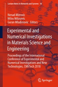 Cover Experimental and Numerical Investigations in Materials Science and Engineering