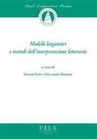 Cover Modelli Linguistici e metodi dell'interpretazione letteraria