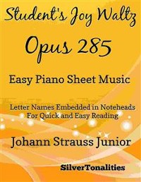 Cover Student's Joy Waltz Opus 285 Easy Piano Sheet Music