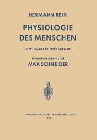 Cover Einfuhrung in die Physiologie des Menschen