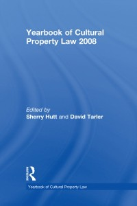 Cover Yearbook of Cultural Property Law 2008