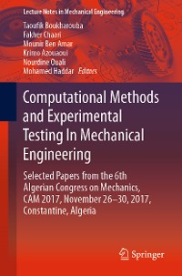 Cover Computational Methods and Experimental Testing In Mechanical Engineering