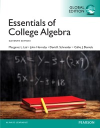 Cover Essentials of College Algebra, Global Edition
