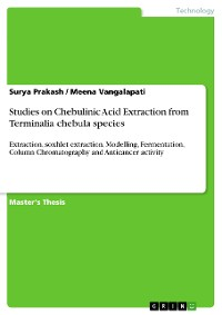 Cover Studies on Chebulinic Acid Extraction from Terminalia chebula species