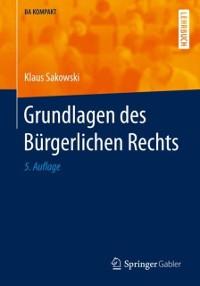 Cover Grundlagen des Burgerlichen Rechts