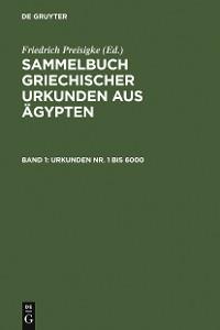 Cover Urkunden Nr. 1 bis 6000
