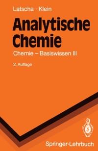 Cover Analytische Chemie