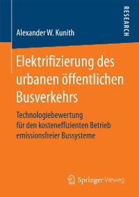 Cover Elektrifizierung des urbanen öffentlichen Busverkehrs