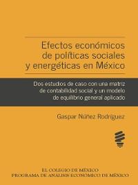 Cover Efectos económicos de políticas sociales y energéticas en México