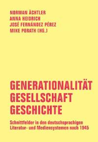 Cover Generationalität - Gesellschaft - Geschichte