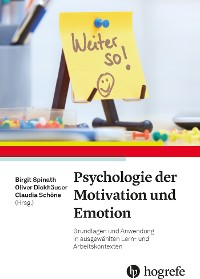 Cover Psychologie der Motivation und Emotion