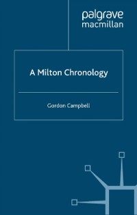 Cover Milton Chronology