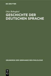 Cover Geschichte der deutschen Sprache
