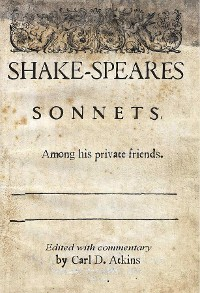 Cover Shakespeare's Sonnets Among His Private Friends
