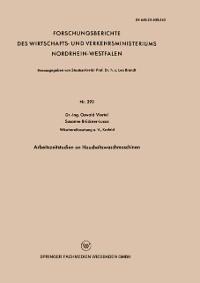 Cover Arbeitszeitstudien an Haushaltswaschmaschinen