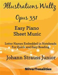 Cover Illustrations Waltz Opus 331 Easy Piano Sheet Music