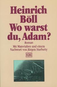 Cover Wo warst du Adam