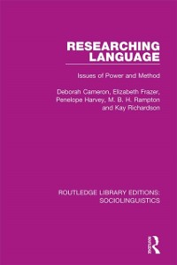Cover Researching Language