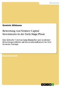Cover Bewertung von Venture Capital Investments in der Early-Stage-Phase