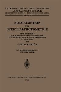 Cover Kolorimetrie und Spektralphotometrie