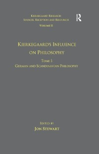 Cover Volume 11, Tome I: Kierkegaard's Influence on Philosophy