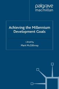 Cover Achieving the Millennium Development Goals