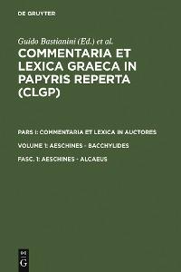 Cover Aeschines - Alcaeus