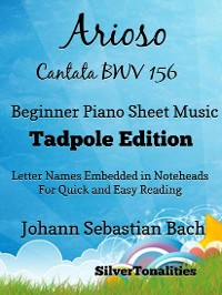Cover Arioso Cantata BWV 156 Beginner Piano Sheet Music Tadpole Edition