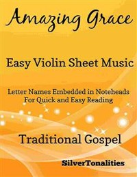 Cover Amazing Grace Easy Violin Sheet Music