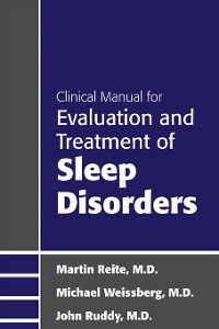 Cover Clinical Manual for Evaluation and Treatment of Sleep Disorders