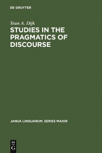 Cover Studies in the Pragmatics of Discourse