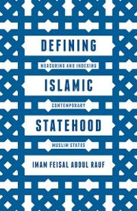 Cover Defining Islamic Statehood