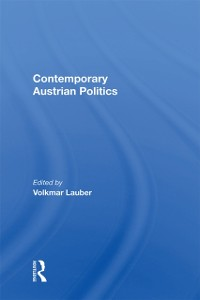 Cover Contemporary Austrian Politics