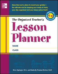 Cover Organized Teacher's Lesson Planner