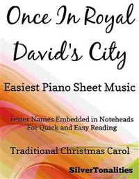 Cover Once in Royal David's City Easiest Piano Sheet Music