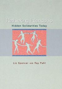 Cover Rethinking Friendship