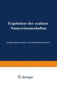 Cover Ergebnisse der Exakten Naturwissenschaften