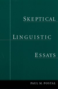 Cover Skeptical Linguistic Essays